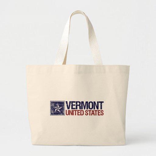 Vintage Estados Unidos con la estrella - Vermont Bolsa Tela Grande