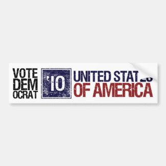 Vintage Estados Unidos de Demócrata del voto en 20 Pegatina De Parachoque