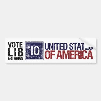 Vintage Estados Unidos del libertario del voto en  Etiqueta De Parachoque