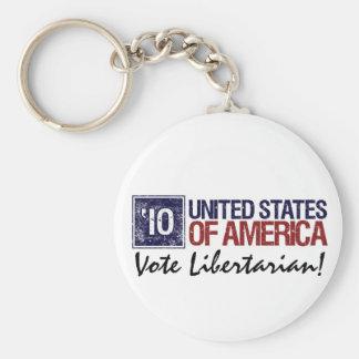 Vintage Estados Unidos del libertario del voto en  Llavero Redondo Tipo Pin
