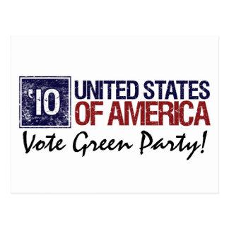 Vintage Estados Unidos del Partido Verde del voto Postales