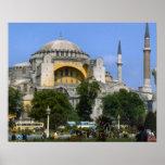 Vintage Estambul, mezquita con los alminares Impresiones