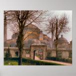 Vintage Estambul, mezquita con los alminares Posters