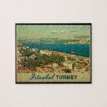 Vintage Estambul Turquía Rompecabeza Con Fotos