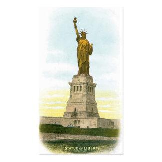 """Vintage """"estatua de la libertad"""" Nueva York Tarjetas De Visita"""