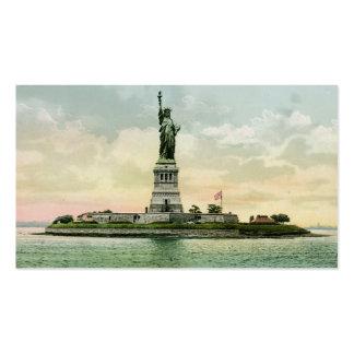 """Vintage """"estatua de la libertad """" tarjeta de visita"""