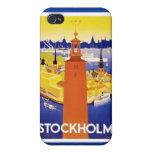 Vintage Estocolmo Suecia iPhone 4 Fundas