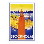 Vintage Estocolmo Suecia Postal