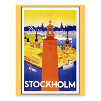 Vintage Estocolmo Suecia Postales
