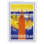Vintage Estocolmo Suecia Tarjeta