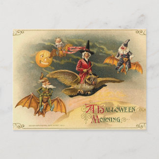 Vintage Ethereal Halloween Holiday Postcard