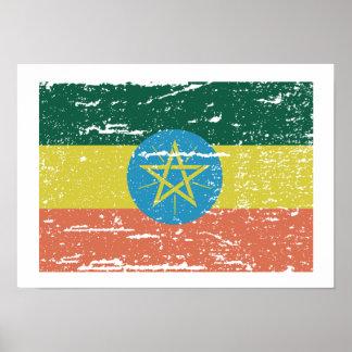 Vintage Ethiopia Flag Poster