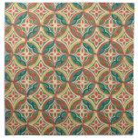 Vintage Ethnic Geometric Abstract Cloth Napkin