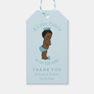 Vintage Ethnic Prince Baby Shower Personalized Gift Tags
