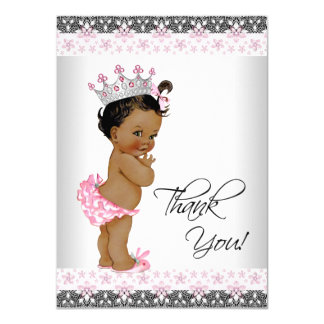 Vintage Ethnic Princess Baby Shower Thank You Card