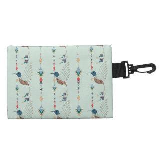 Vintage ethnic tribal aztec bird accessory bag
