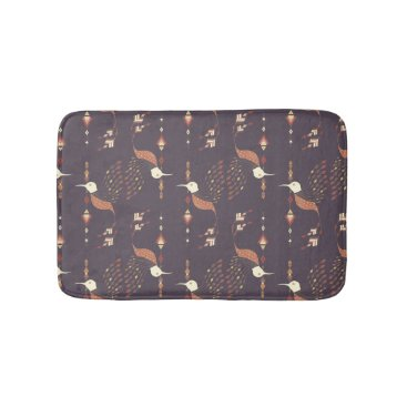 Aztec Themed Vintage ethnic tribal aztec bird bathroom mat