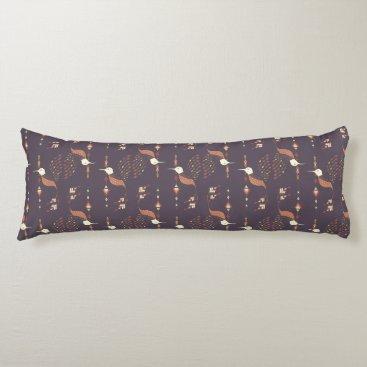 Aztec Themed Vintage ethnic tribal aztec bird body pillow