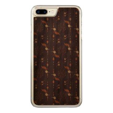 Aztec Themed Vintage ethnic tribal aztec bird carved iPhone 7 plus case