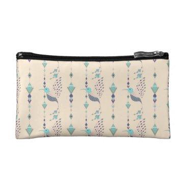 Vintage ethnic tribal aztec bird cosmetic bag
