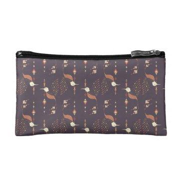 Aztec Themed Vintage ethnic tribal aztec bird cosmetic bag