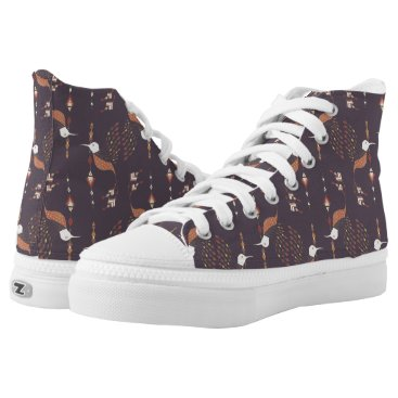Aztec Themed Vintage ethnic tribal aztec bird High-Top sneakers