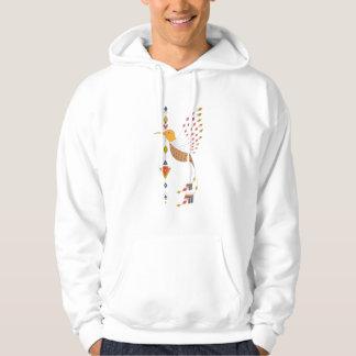 Vintage ethnic tribal aztec bird hoodie