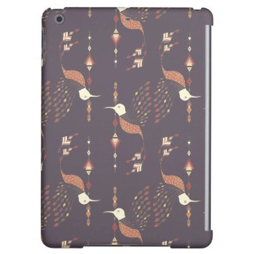 Aztec Themed Vintage ethnic tribal aztec bird iPad air cover