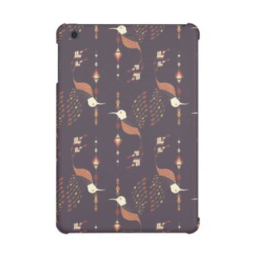 Aztec Themed Vintage ethnic tribal aztec bird iPad mini cases