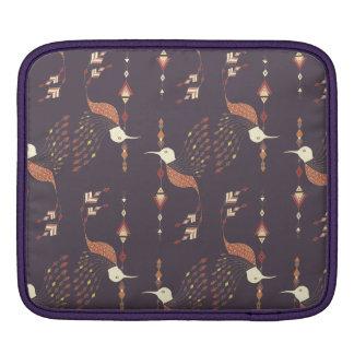 Vintage ethnic tribal aztec bird iPad sleeve