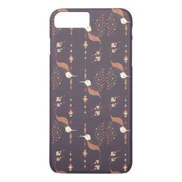 Aztec Themed Vintage ethnic tribal aztec bird iPhone 7 plus case