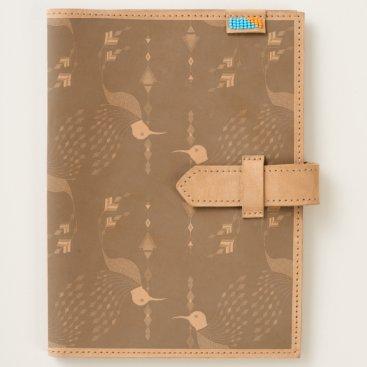 Vintage ethnic tribal aztec bird journal