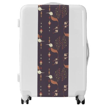 Aztec Themed Vintage ethnic tribal aztec bird luggage