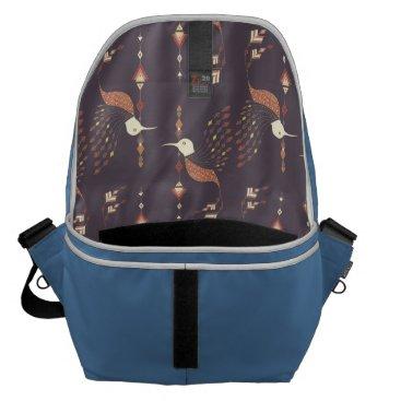 Aztec Themed Vintage ethnic tribal aztec bird messenger bag