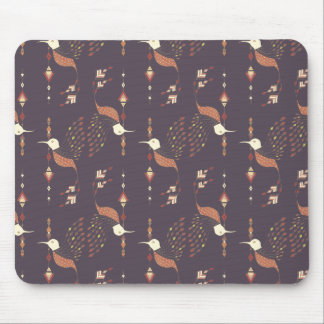 Vintage ethnic tribal aztec bird mouse pad