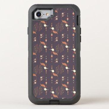 Aztec Themed Vintage ethnic tribal aztec bird OtterBox defender iPhone 7 case