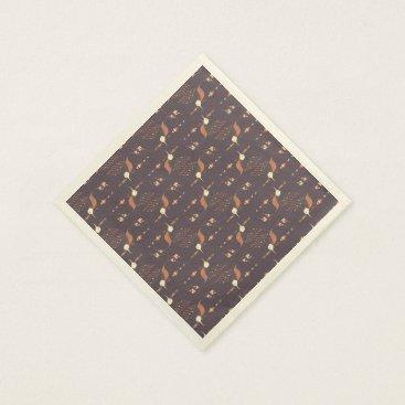 Aztec Themed Vintage ethnic tribal aztec bird paper napkin