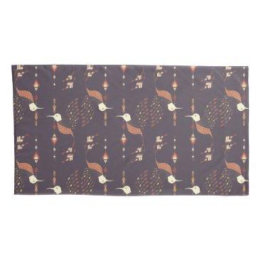 Aztec Themed Vintage ethnic tribal aztec bird pillowcase