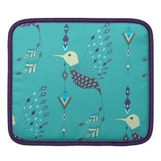 Vintage ethnic tribal aztec bird sleeve for iPads