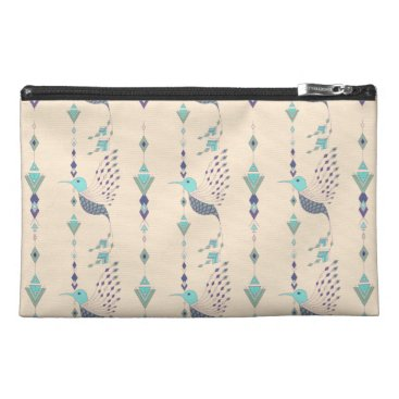 Vintage ethnic tribal aztec bird travel accessory bag