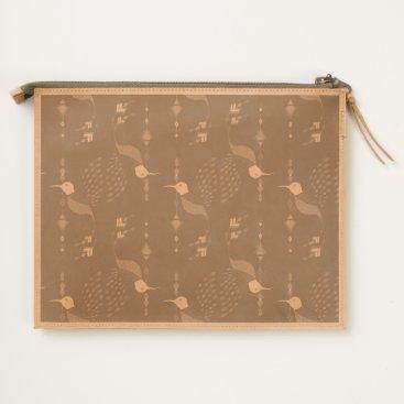 Aztec Themed Vintage ethnic tribal aztec bird travel pouch
