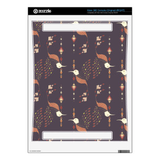 Vintage ethnic tribal aztec bird xbox 360 skins