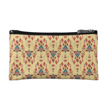 Vintage ethnic tribal aztec ornament cosmetic bag