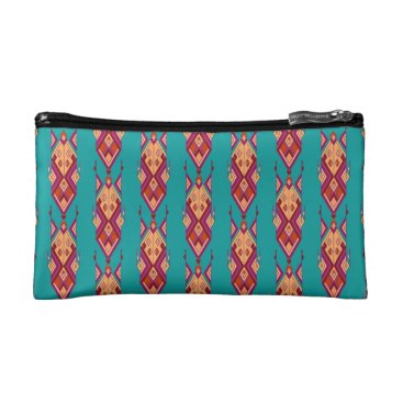 Vintage ethnic tribal aztec ornament cosmetic bag