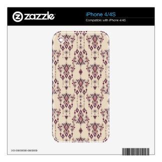 Vintage ethnic tribal aztec ornament iPhone 4S skin