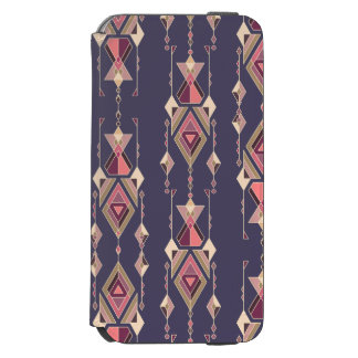 Vintage ethnic tribal aztec ornament iPhone 6/6s wallet case