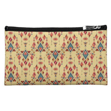 Vintage ethnic tribal aztec ornament makeup bag