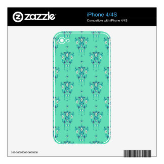 Vintage ethnic tribal aztec ornament skin for iPhone 4