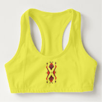 Vintage ethnic tribal aztec ornament sports bra