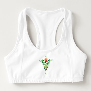Aztec Themed Vintage ethnic tribal aztec ornament sports bra